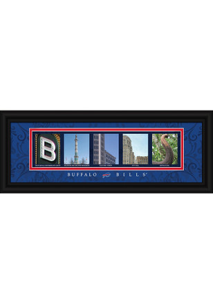 Buffalo Bills 8x20 framed letter art Framed Posters
