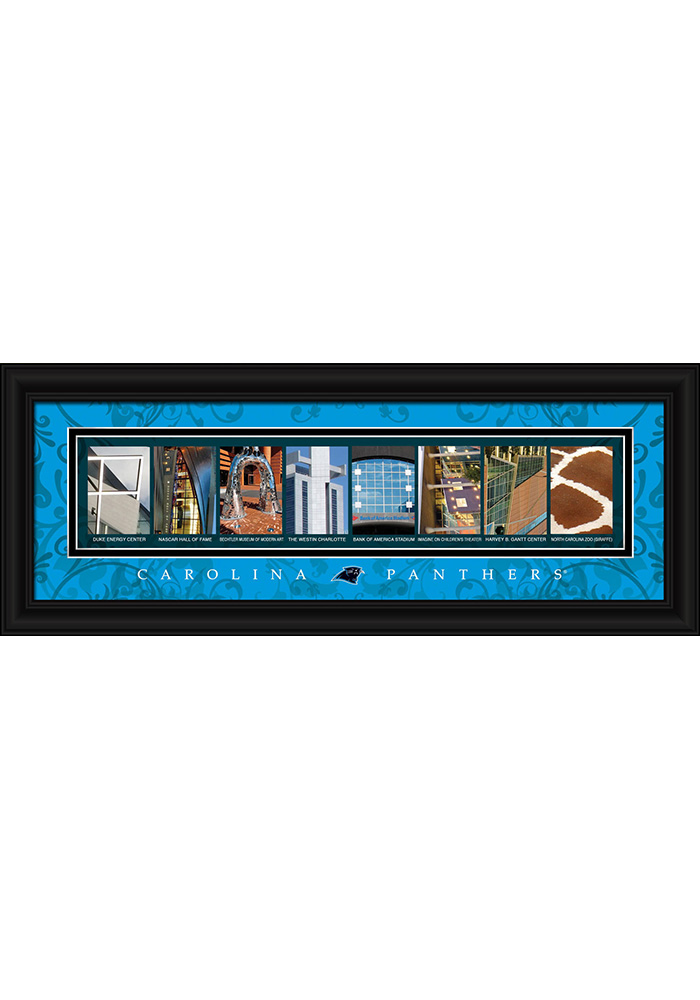 Carolina Panthers 8x20 framed letter art Framed Posters - Image 1