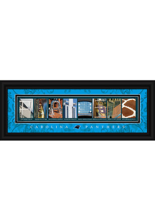 Carolina Panthers 8x20 framed letter art Framed Posters