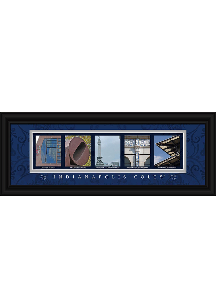 Indianapolis Colts 8x20 framed letter art Framed Posters - Image 1