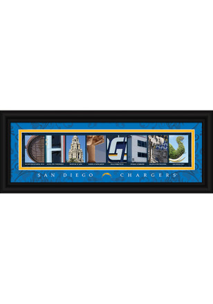 San Diego Chargers 8x20 letter art Framed Posters