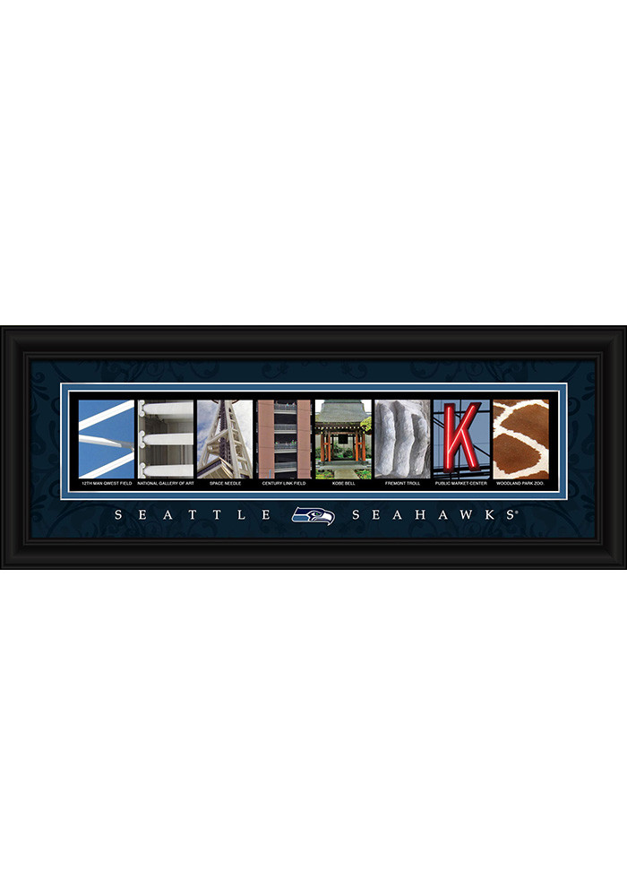 Seattle Seahawks 8x20 framed letter art Framed Posters - Image 1