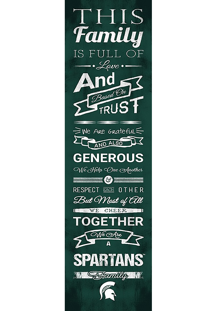 Michigan State Spartans 6x20 Family Cheer Sign