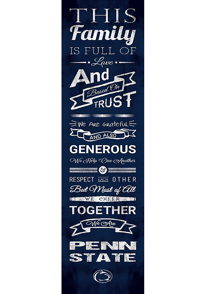 Penn State Nittany Lions 6x20 Family Cheer Wall Art - Image 1