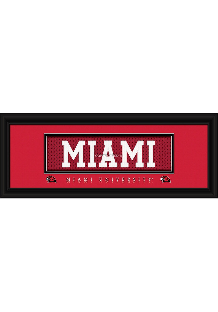 Miami Redhawks 8x20 framed Framed Posters - Image 1