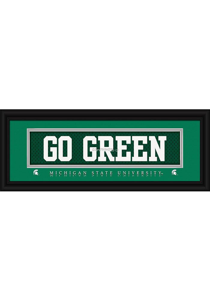Michigan State Spartans 8x20 framed Framed Posters - Image 1