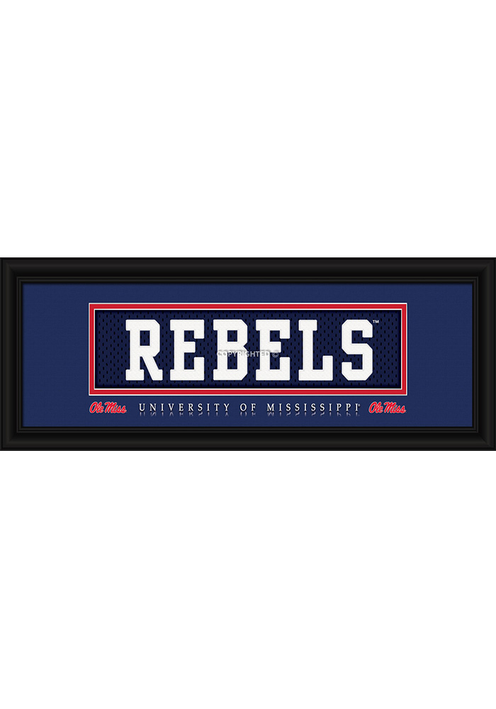 Ole Miss Rebels 8x20 framed Framed Posters - Image 1
