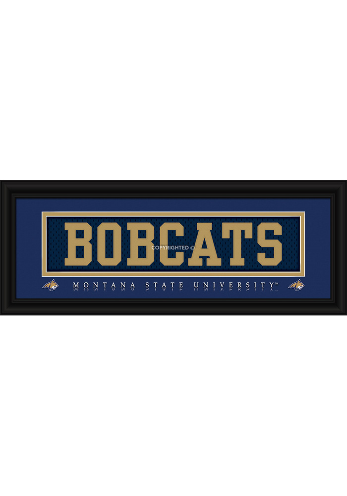 Montana State Bobcats 8x20 framed Framed Posters - Image 1
