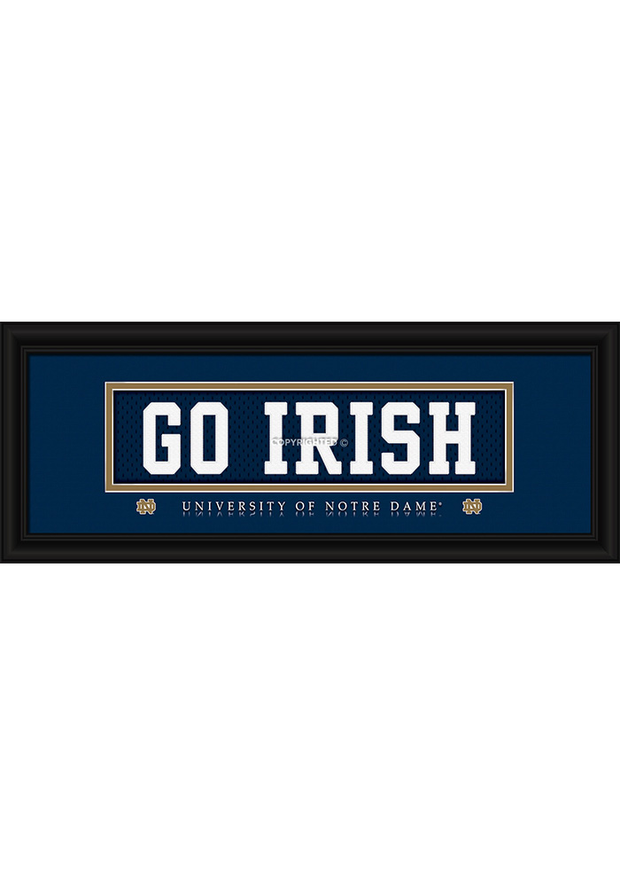 Notre Dame Fighting Irish 8x20 framed Framed Posters - Image 1