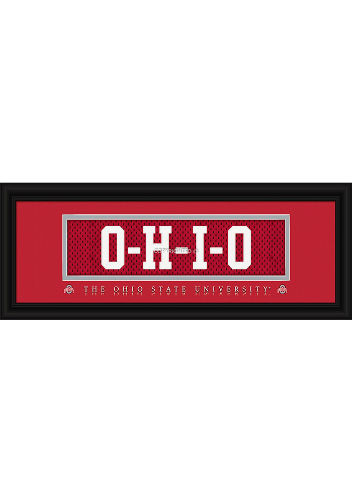 Ohio State Buckeyes 8x20 framed Framed Posters - Image 1