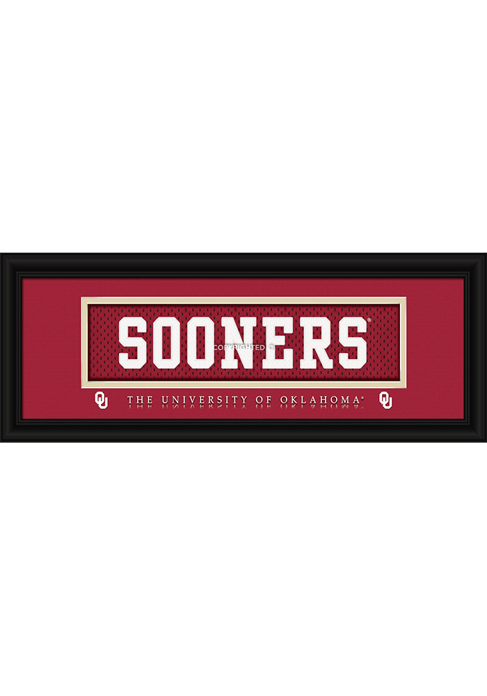 Oklahoma Sooners 8x20 framed Framed Posters - Image 1
