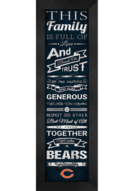 Chicago Bears 6x20 inch Family Cheer Sign