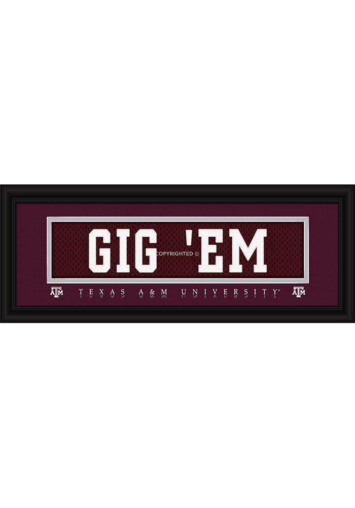Texas A&M Aggies 8x20 framed Framed Posters - Image 1