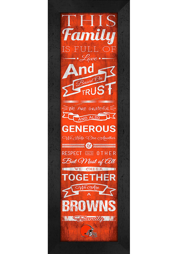 Cleveland Browns 6x20 Family Cheer Wall Art - Image 1