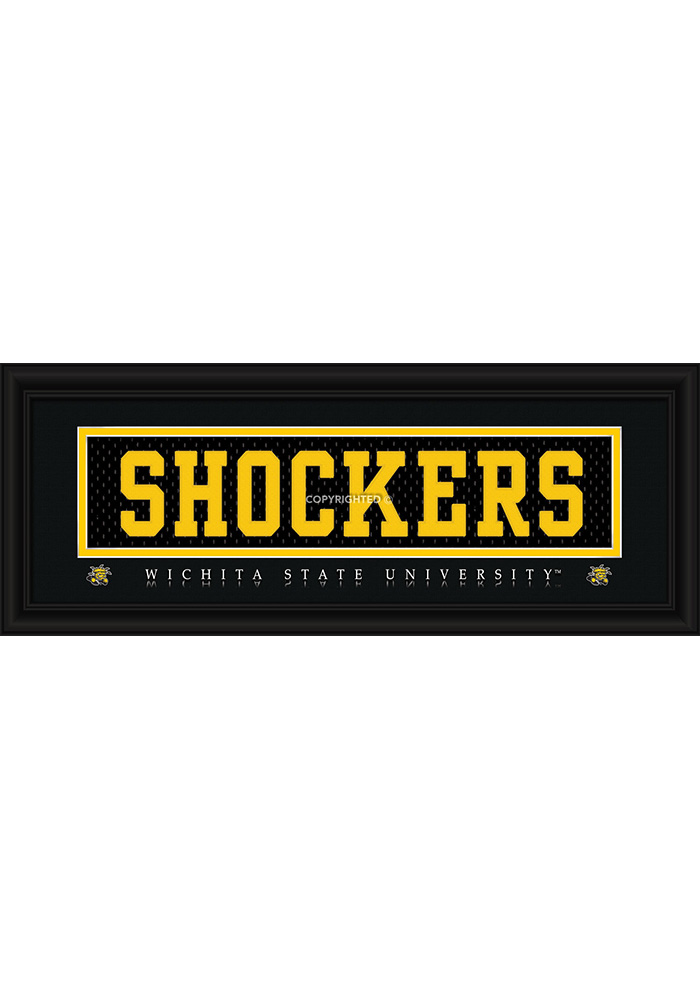 Wichita State Shockers 8x20 framed Framed Posters - Image 1