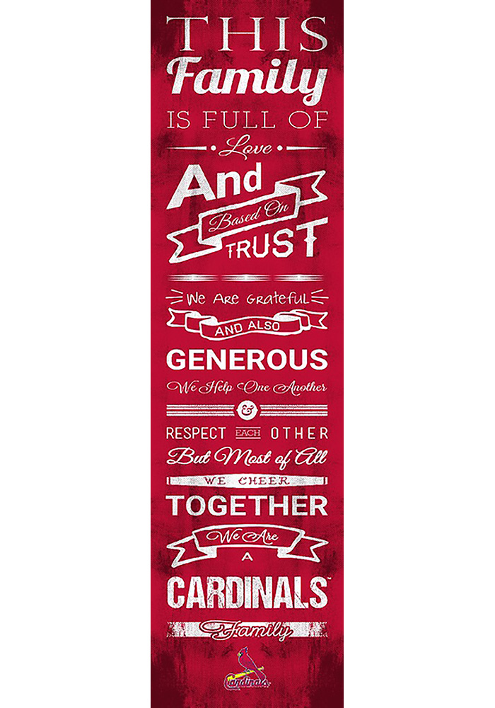 St Louis Cardinals 6x20 Family Cheer Wall Art - Image 1