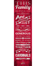 St Louis Cardinals 6x20 inch Family Cheer Sign