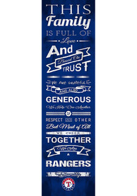 Texas Rangers 6x20 inch Family Cheer Sign