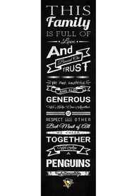 Pittsburgh Penguins 6x20 inch Family Cheer Sign