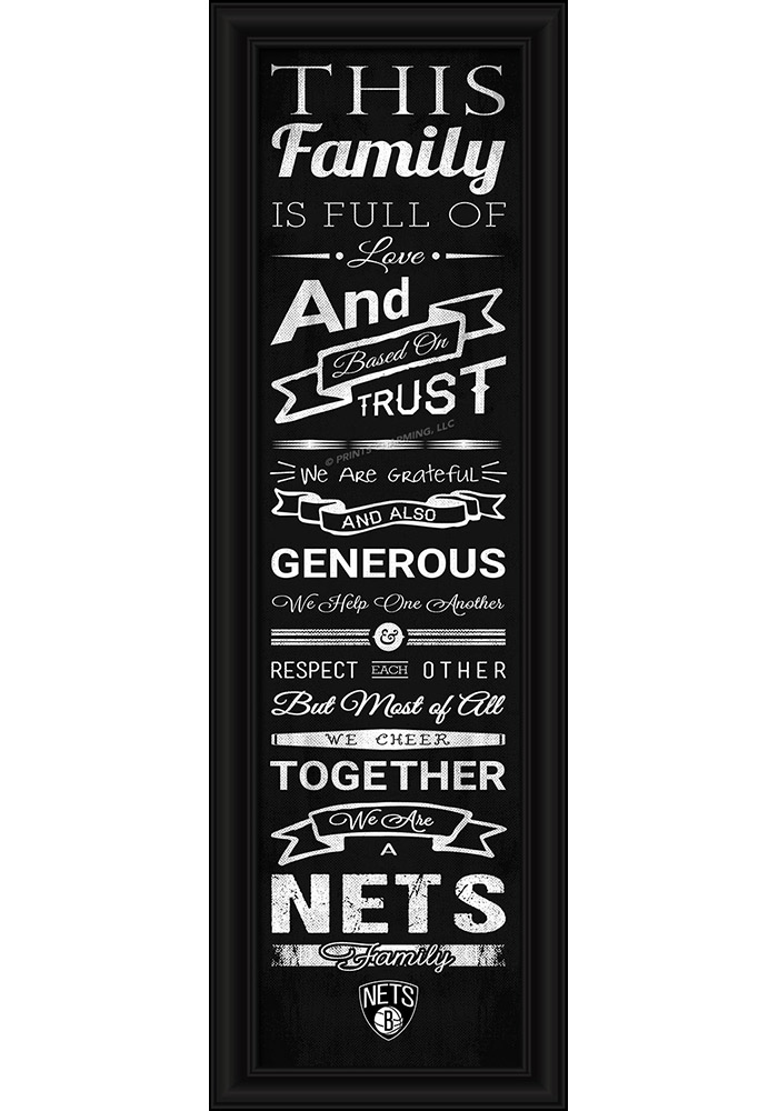 Brooklyn Nets 8x24 Framed Posters - Image 1