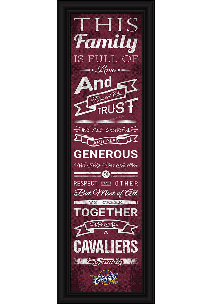 Cleveland Cavaliers 8x24 Framed Posters - Image 1