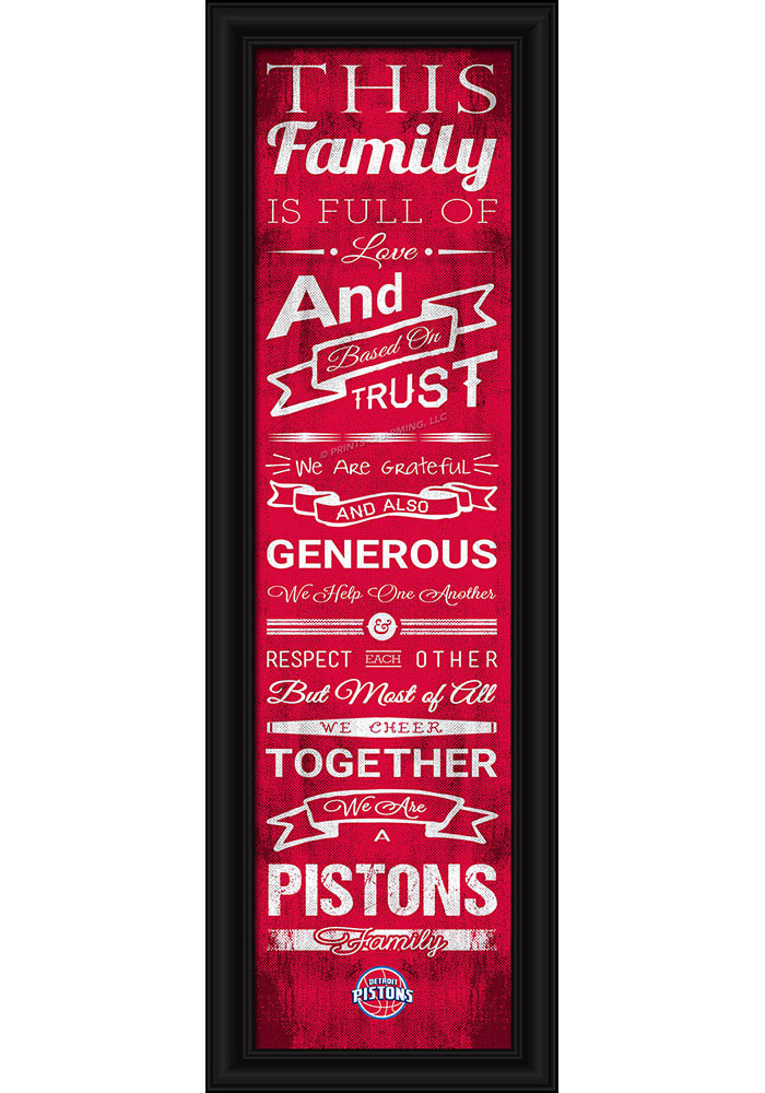 Detroit Pistons 8x24 Framed Posters - Image 1