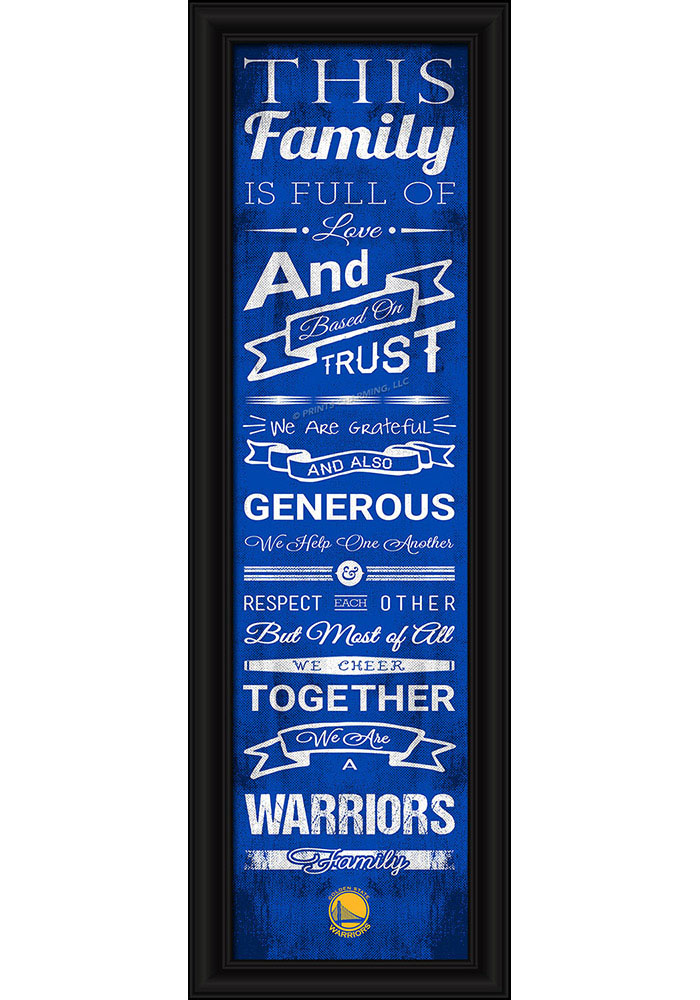 Golden State Warriors 8x24 Framed Posters - Image 1