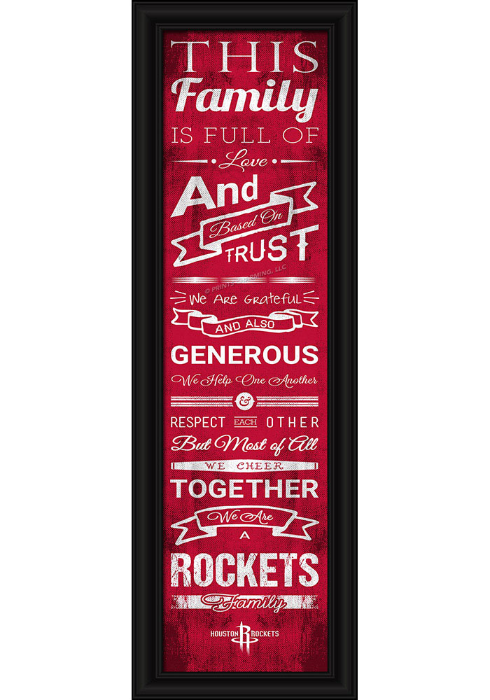 Houston Rockets 8x24 Framed Posters - Image 1