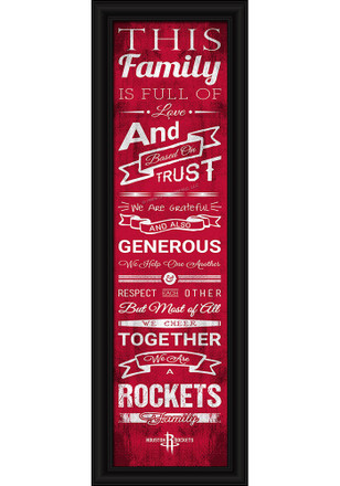 Houston Rockets 8x24 Framed Posters