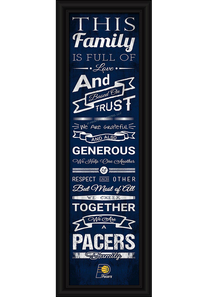 Indiana Pacers 8x24 Framed Posters - Image 1