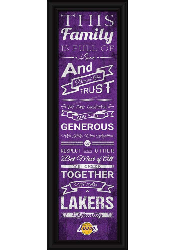 Los Angeles Lakers 8x24 Framed Posters - Image 1