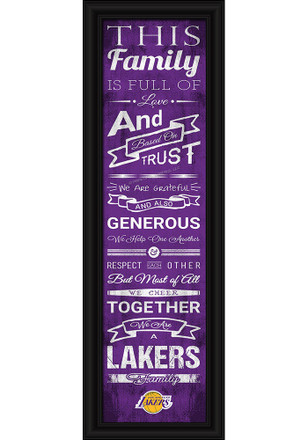 Los Angeles Lakers 8x24 Framed Posters