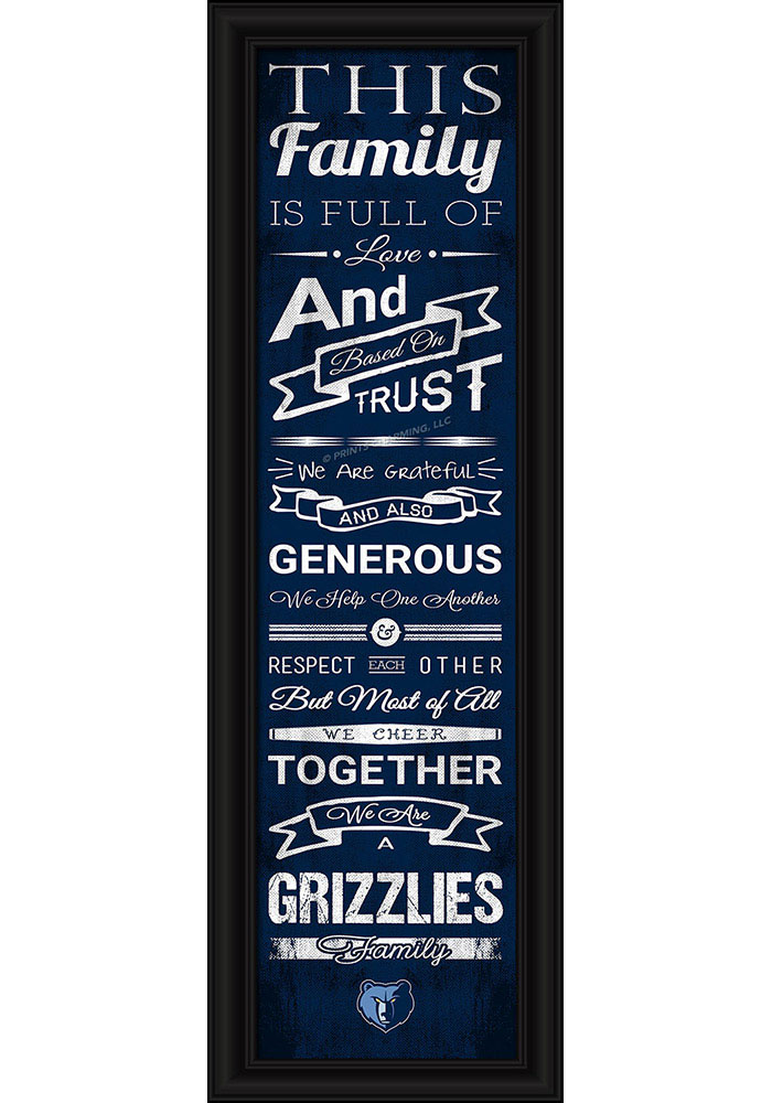 Memphis Grizzlies 8x24 Framed Posters - Image 1