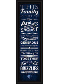 Memphis Grizzlies 8x24 Framed Posters