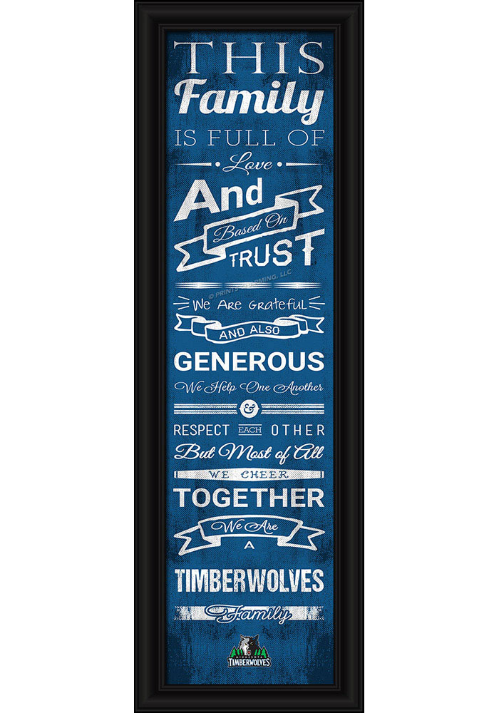 Minnesota Timberwolves 8x24 Framed Posters - Image 1