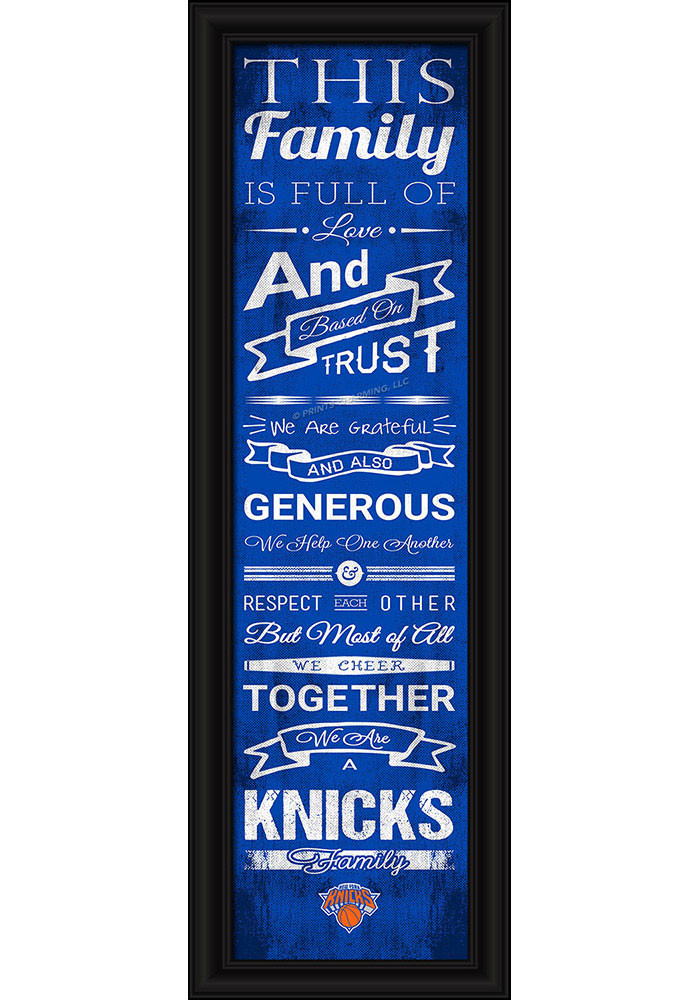 New York Knicks 8x24 Framed Posters - Image 1