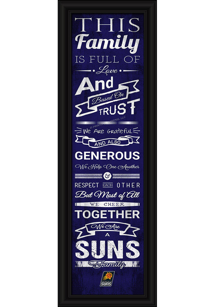 Phoenix Suns 8x24 Framed Posters - Image 1