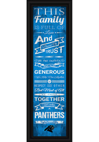 Carolina Panthers 8x24 Framed Posters