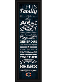 Chicago Bears 8x24 Framed Posters