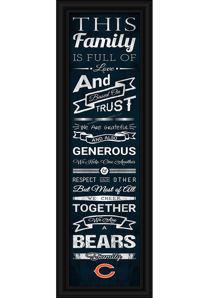 Chicago Bears 8x24 Framed Posters - Image 1