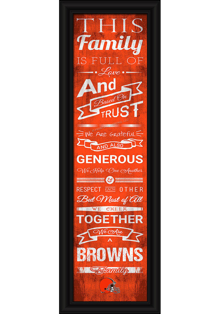 Cleveland Browns 8x24 Framed Posters - Image 1