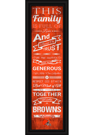 Cleveland Browns 8x24 Framed Posters