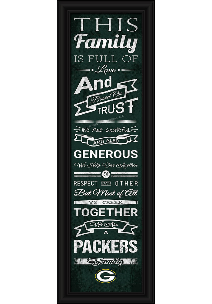 Green Bay Packers 8x24 Framed Posters - Image 1