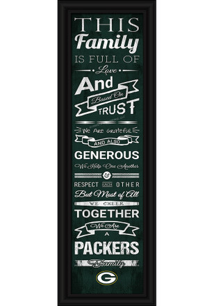 Green Bay Packers 8x24 Framed Posters