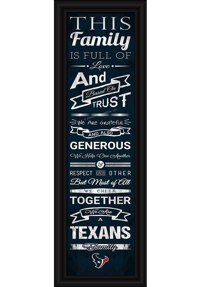 Houston Texans 8x24 Framed Posters - Image 1