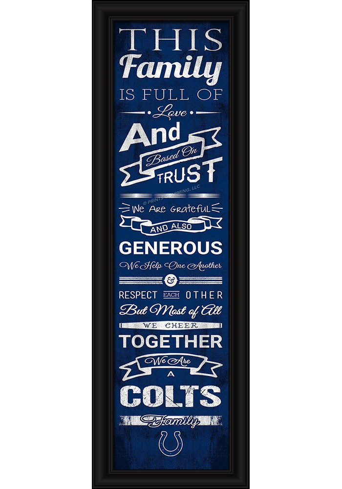 Indianapolis Colts 8x24 Framed Posters - Image 1