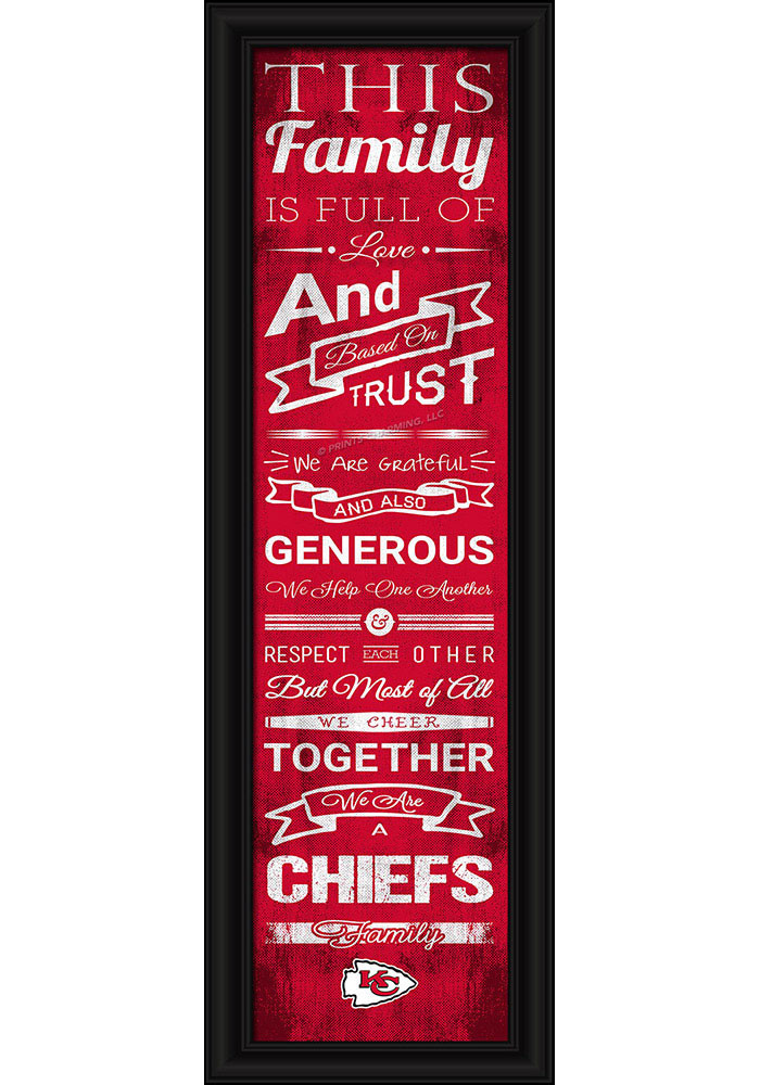 Kansas City Chiefs 8x24 Framed Posters - Image 1