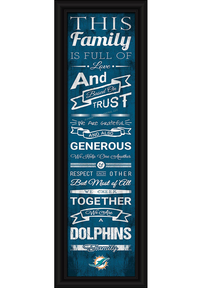 Miami Dolphins 8x24 Framed Posters - Image 1