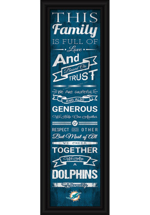 Miami Dolphins 8x24 Framed Posters