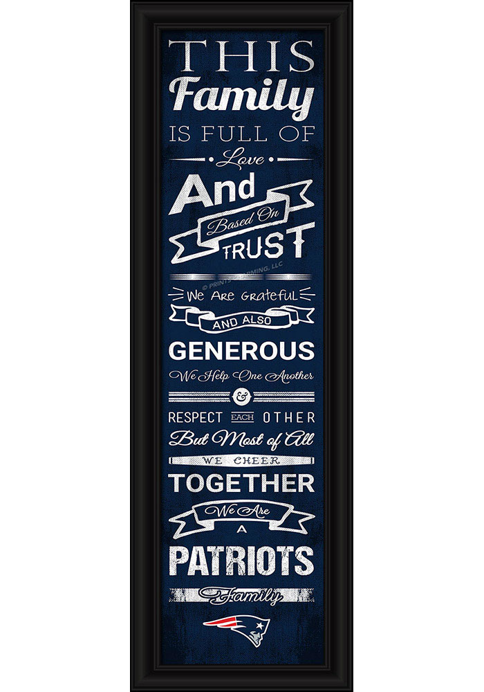New England Patriots 8x24 Framed Posters - Image 1